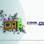 Cool FM 98.9 Logo with Radio