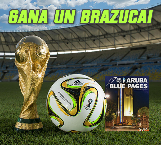 Gana un Brazuca cu Aruba Blue Pages.