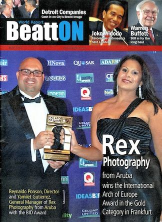"REX Photography Aruba riba e front page di e revista ""BeattOn""di Detroit"